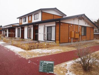 八戸市 県営住宅多賀台 外壁木部塗装補修工事