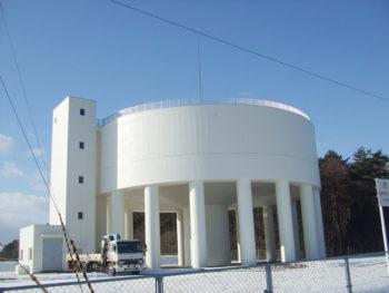八戸市 大山配水塔 外壁補修塗装工事