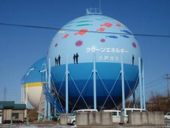 八戸市 2号球形ガスホルダー 開放検査工事