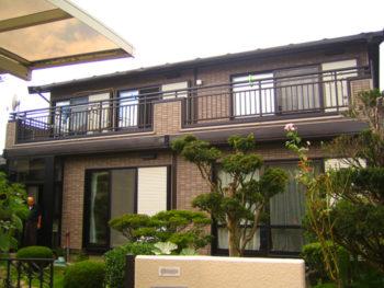 八戸市 S様邸 屋根塗装、塀レンガ貼り付けリフォーム事例