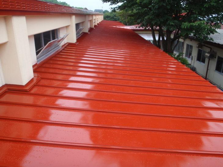 長老園屋根遮熱塗装工事