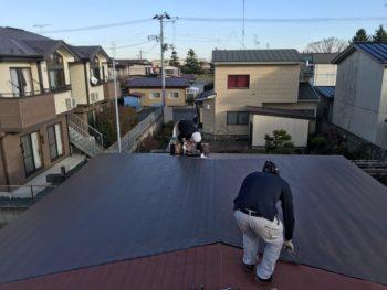 S様邸 塗装前の屋根一部張替え工事 八戸市塗装屋屋根張替え