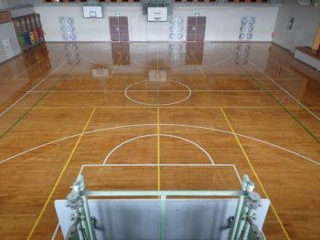 【八戸】I小学校体育館 床塗装工事