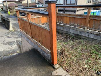 T様邸門柱補修工事/青森県/八戸市/塗装工事