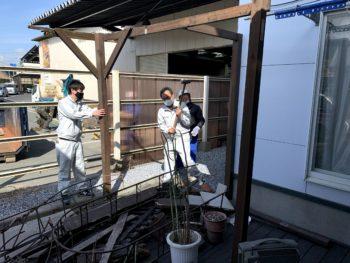 【八戸】ウッドデッキ撤去 外壁塗装 屋根塗装 塗装業者 塗装屋 塗装会社