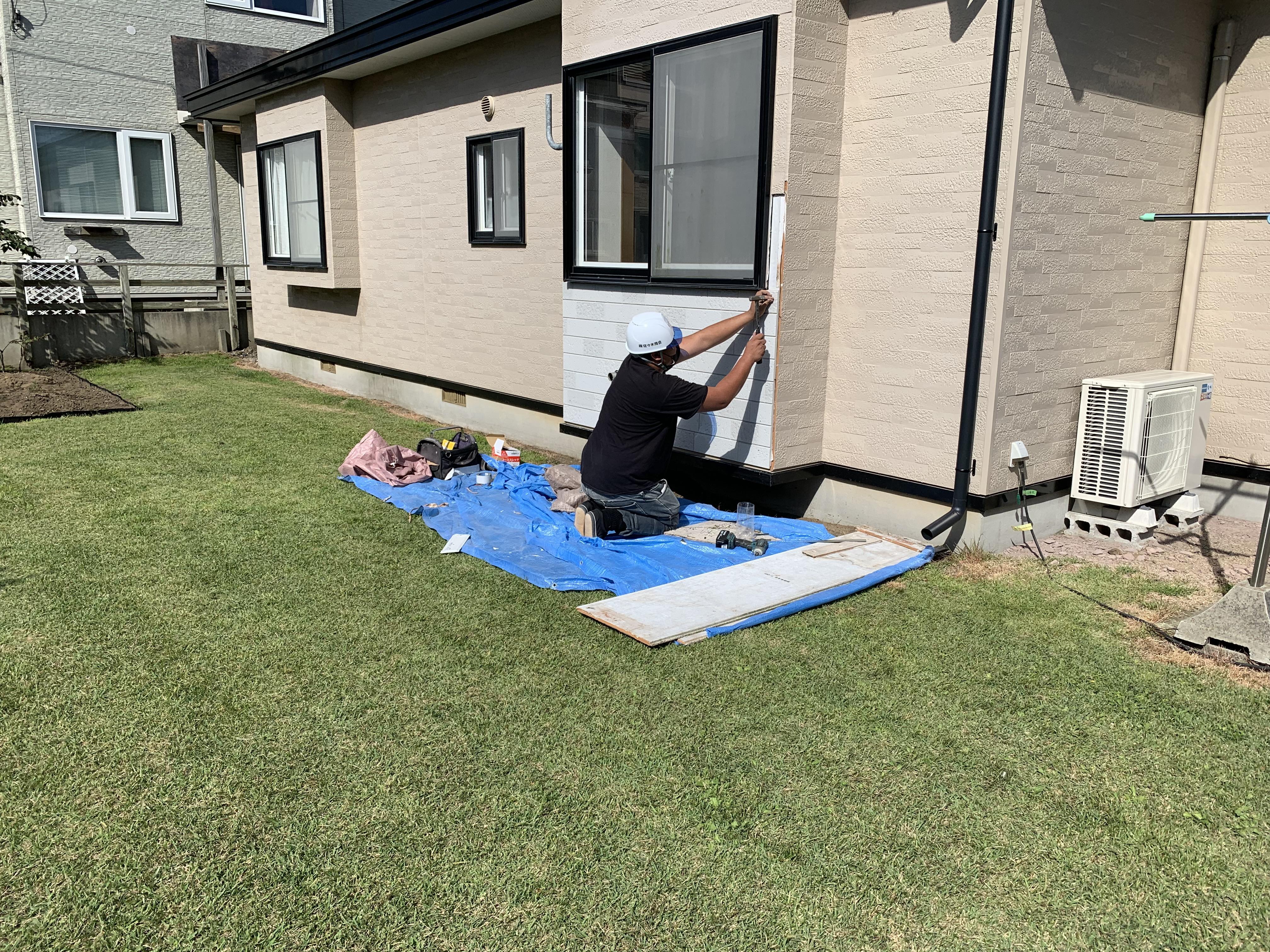 【八戸】雨漏修繕の作業風景 外壁塗装|屋根塗装|塗装業者|塗装屋|塗装会社